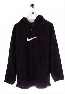 Vintage Nike  Fleece And Big Center Swoosh Black Hoodie