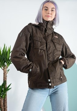 Vintage North Face sports jacket in brown .