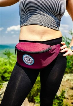 Bumbag/Festival bag in Burgundy with Wanderlust design