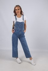 Vintage OLD NAVY Denim Dungarees Wide PETITE UK 8 (4AQ)