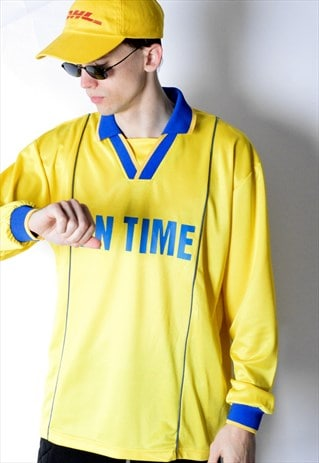 VINTAGE 90S YELLOW JERSEY SHIRT