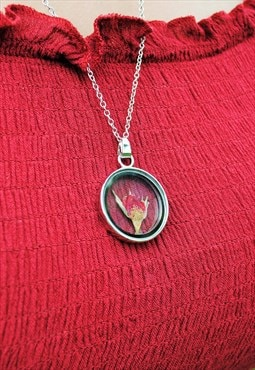 MoonChild Wisteria Red Rose necklace