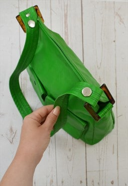 Apple Green Shoulder Bag Marble Effect Perspex Loopholes