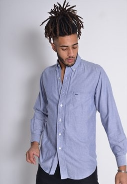 Vintage GANT Long Sleeve Shirt Blue