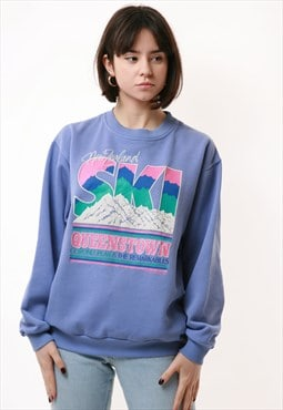 90s New Zealand RARE Vintage Oldschool Sweatshirt 16703