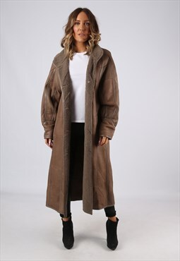 Sheepskin Leather Shearling  Coat UK 14 (9DZ)