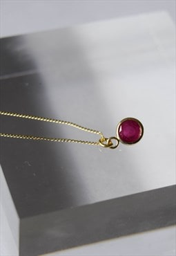 Ruby necklace, 9ct gold and ruby necklace