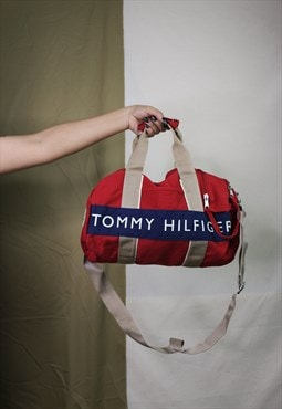RARE  Vintage TOMMY HILFIGER Duffle Mini Weekend Bag