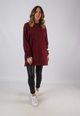 Sweatshirt Jumper Oversized PlAIN Long UK 16 - 18  (CKHF)