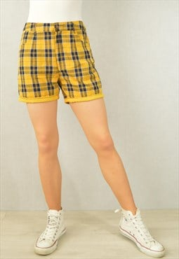 Vintage High Waisted Shorts Clueless Check Tartan