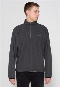 Vintage Grey ACTIVE GEAR 1/4 Zip Fleece Pullover Sweatshirt