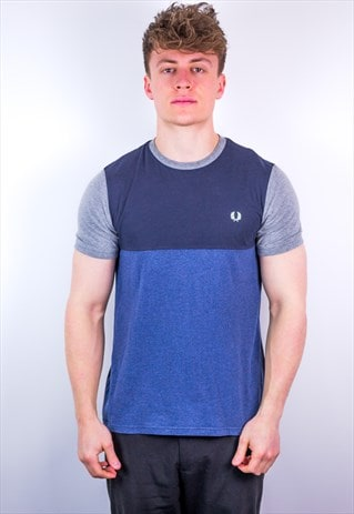 Vintage Fred Perry T-Shirt in Blue & Grey