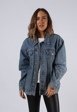 Vintage Denim Jacket Oversized Fitted UK 16 XL  (C3P)