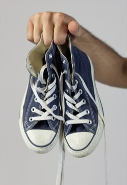 Vintage Converse Navy Trainers