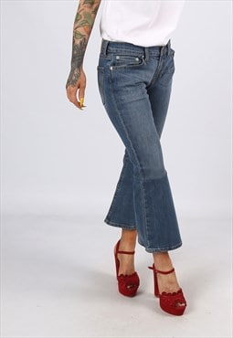 KICK FLARE LEVIS Reworked Jeans Flared UK 10 (L31K)