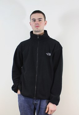 Vintage 1990s Black The North Face Fleece Zip Up Sweatshirt