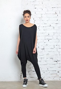 Black Jumpsuit, One Piece Romper, Off Shoulder Top,