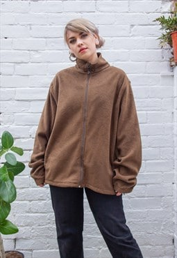 Vintage Woolrich Brown Zip Fleece