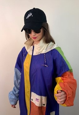 Fresh purple green 90s neon windbreaker Jacket vintage retro
