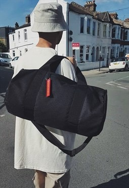 New Barrel Bag Black [duffle-gym-travel-bag]