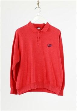 vintage 80s Nike polo collar sweatshirt