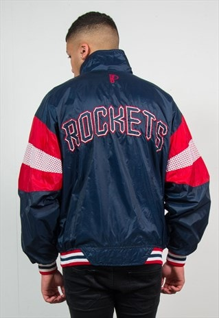 VINTAGE NBA JACKET PRO PLAYER HOUSTON ROCKETS WINDBREAKER