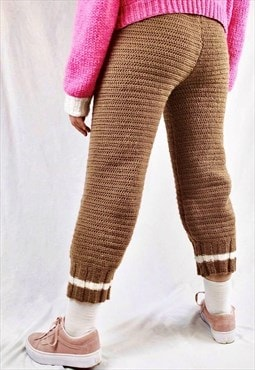 Crochet X Knit Two Tone Trousers