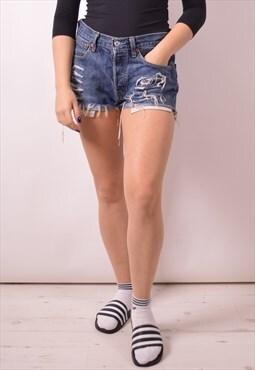 Levi's 501 Womens Vintage Denim Shorts W31 Blue 90s