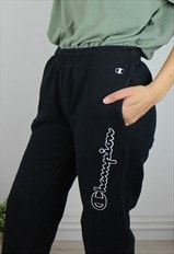 Vintage Champion Joggers Sweatpants w Statement Logo Side