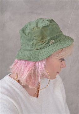Vintage Bucket Hat in Green