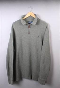 Mens Ralph Lauren Light Green/Kiwi Quarter Zip Jumper