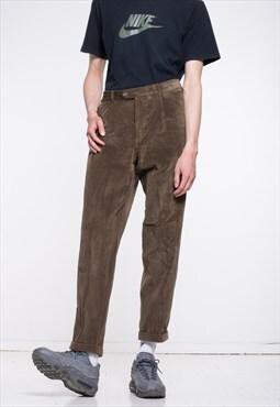 Vintage Brown Corduroy Retro Trousers