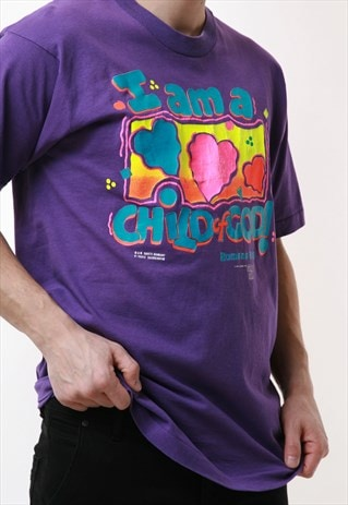 90s Vintage Fruit of the Loom Graphic Cotton T-Shirt 16818