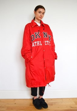 Rare Vintage Dkny Red Coach Jacket