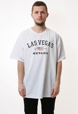 90s GILDAN Las Vegas NEVADA Vintage Cotton T-shirt 16952