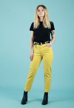 Vintage 90s Betty Barclay comfortfit yellow jeans