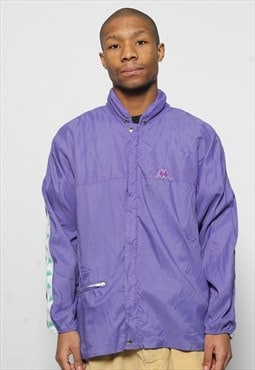 Vintage Kappa Purple Tape Logo Thin Jacket