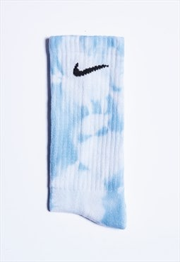 Custom Tie-Dye Socks - Sky Blue