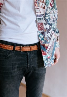 Vintage 70s western leather belt
