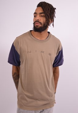 Nike Mens Vintage T-Shirt Top Large Khaki 90s