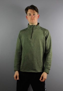 Vintage The North Face 1/4 Zip Sweatshirt in Green. Thick co