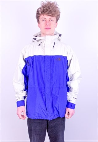VINTAGE THE NORTH FACE HYVENT JACKET IN BLUE & WHITE