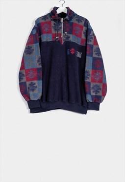 Vintage 80s Fleece Jacket Crazy Print Avelinas / SP201651