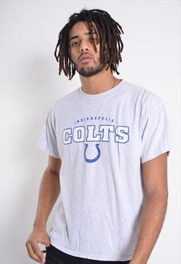 Vintage Indianapolis Colts Crew Neck T-Shirt Grey