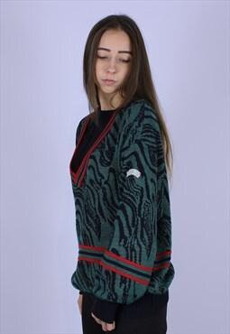 Adidas vintage top sweater rare v neck
