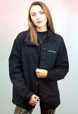 1990s vintage black zip up jacket