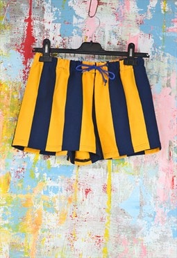 Shorts in gold n blue stripe