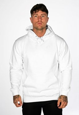 54 Floral Supreme Plain Blank Staple Hoody - White