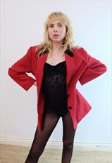 Vintage Revival 80s 'Valentino' Red and Black Blazer