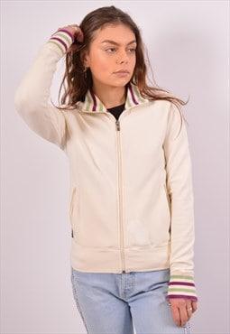 Vintage Sergio Tacchini Tracksuit Top Jacket Off White